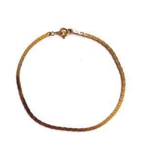 Small gold braided bracelet